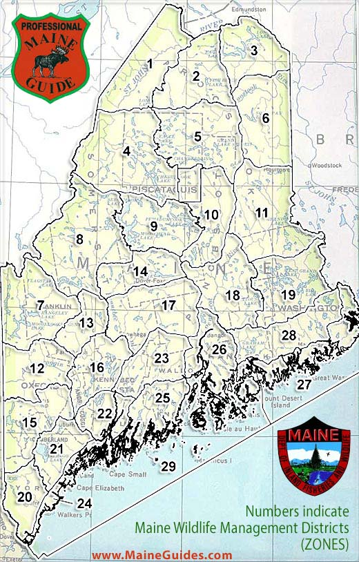 Maine Hunting Zone Maps Maine Wildlife Management Zones